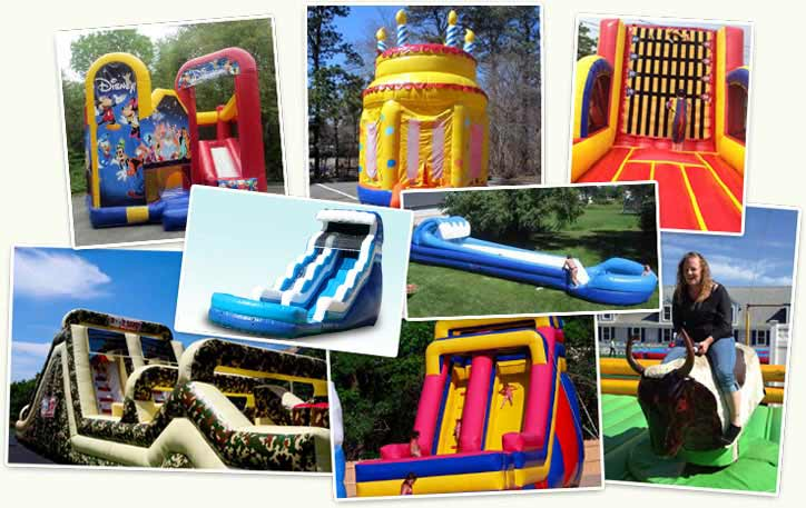 Woonwalks, Bouncers, Moonbounces and other Inflatable Slides and Rides