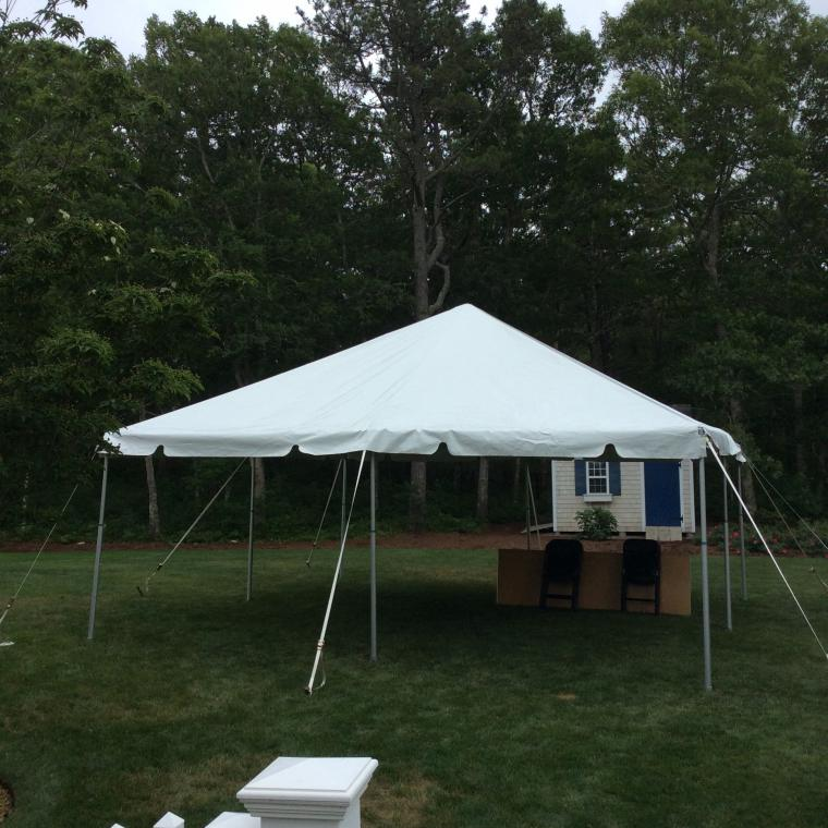 20X20 Frame Tent & Cape Cod Inflatable Rentals: 20X20 Frame Tent