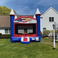 Patriotic Red White and Blue Bounce House